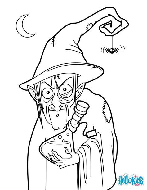 witches pot coloring page coloring pages