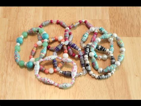 How To Make A Paper Bead Bracelet - diy paper bead bracelets