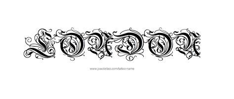 london tattoo designs name designs