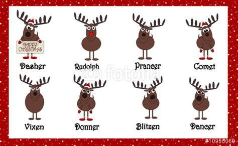 testo remember the name quot santas reindeers with names quot stock photo and