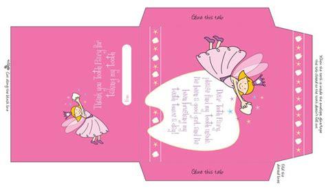 printable fairy envelope envelope pink tooth fairy printables crafts