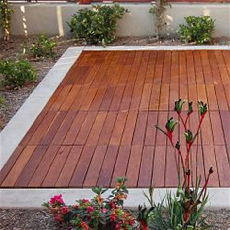 Snap Together Deck Tiles by Curupay Outdoor Wood Deck Tiles Homeinfatuation
