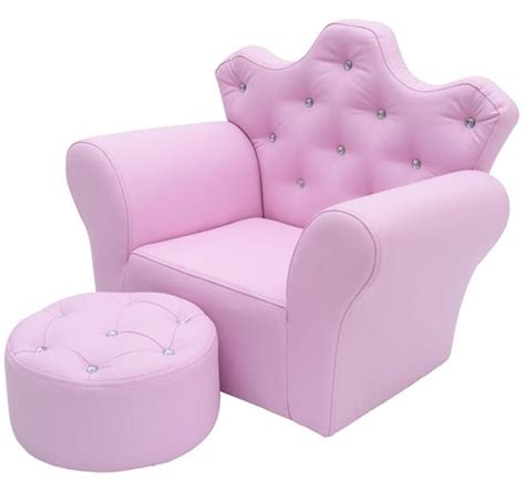 kids pink armchair homcom pu leather kids set armchair stool pink aosom co uk