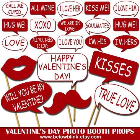 printable photo booth props valentines valentine s day photo props printable photo booth props