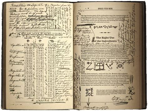 printable potion recipes advanced potion making harry potter witch wizard spell