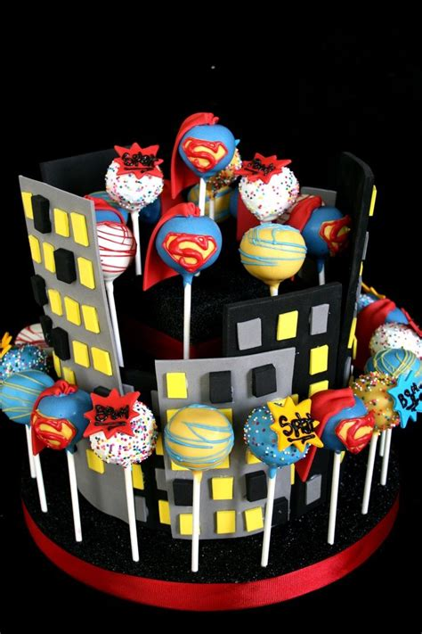 superhero cake pop recipe visit facebook  superhero party   cake pops birthday