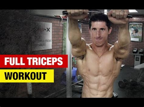 triceps workout home or versions