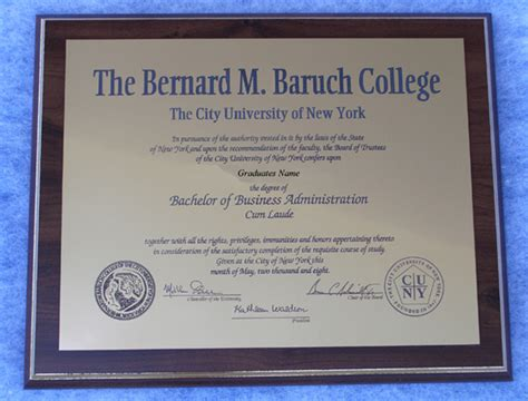 Baruch College Mba In Entrepreneurship Program by Bernard M Baruch College Graduation Gift