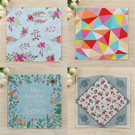 Napkin Tissue Decoupage 375 wedding paper napkins flowers decoupage festive tissue napkins paper 33cm 33cm 20pcs