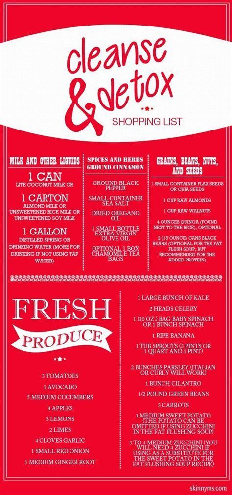 Juice Detox Diet Shopping List by Best 25 Plans Ideas On Healthy