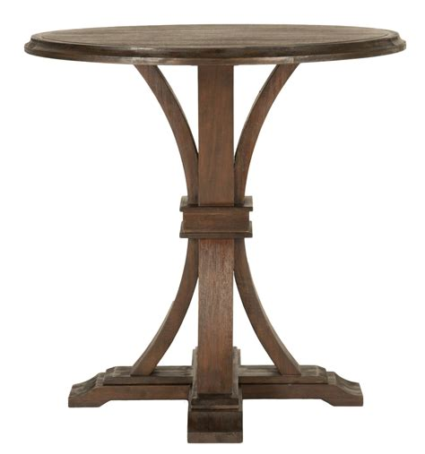 rustic java bar height dining table from