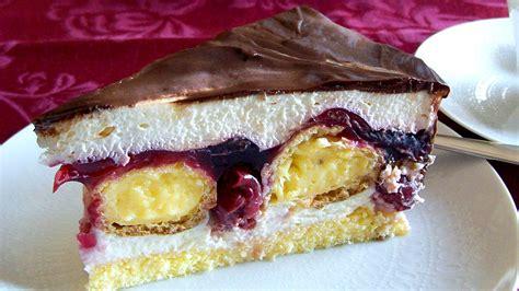 Mini Torten Rezepte by Cremige Kirsch Sahne Torte Mit Selbstgemachten Verpoorten