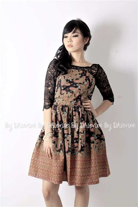 Brokat Brukat Bahan Kain Kebaya Dress Black Series batik dress kebaya dress pendapa batik black dress
