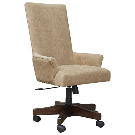 upholstered swivel desk chair signature design by baldridge contemporary