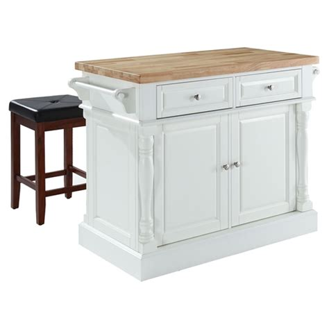 kitchen carts product island with bench seating crosley butcher block top kitchen island with square seat stools