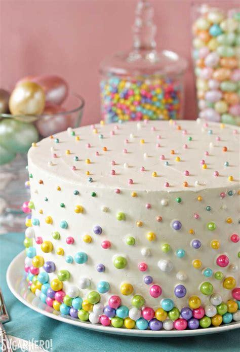 cake decoration ideas easter polka dot cake sugarhero