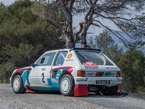 peugeot 205 group b ari vatanen s peugeot 205 t16 group b rally car is up for