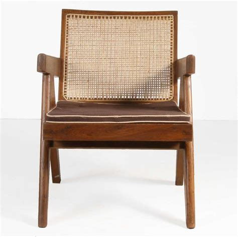 Easy Chair India by Jeanneret Caned Teak Easy Chair Chandigarh India