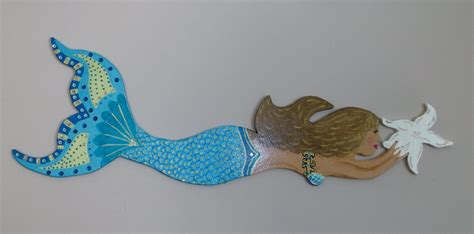 mermaid decorations for home beach decor home decor wooden mermaid mermaids