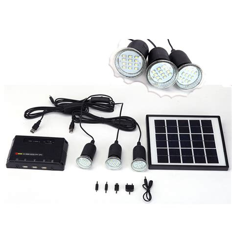 4w Solar Panel Lighting Home System Kit Usb Charger With 3 Solar Panel Lights Price