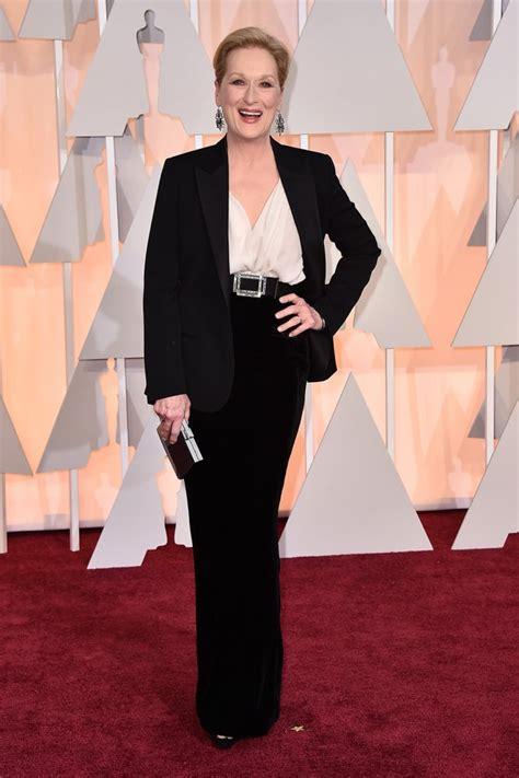 Carpet Wardrobe by Meryl Streep S Oscars 2015 Carpet Dress