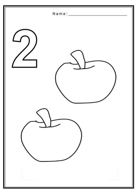 coloring page number two crafts actvities and worksheets for preschool toddler and