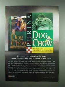changing puppy food 1998 purina chow food ad changing