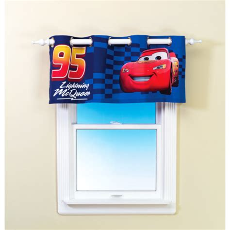 disney pixar cars curtains disney pixar cars no 95 grommet valance walmart com