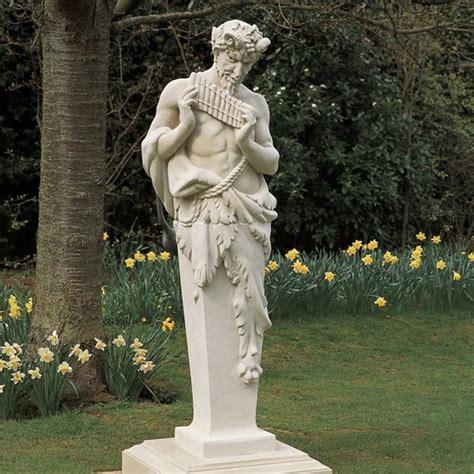 backyard statues harlestone pan term statue stone garden ornament