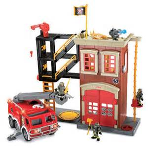 imaginext fire station amp engine fisher price wwsm