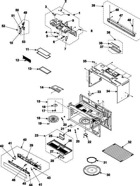 samsung samsung microwave parts model smh7177stexaa sears partsdirect