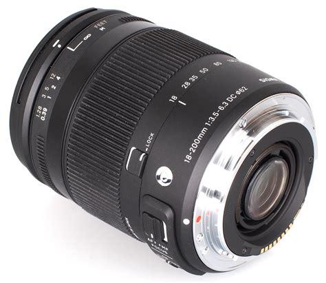 sigma 18 200mm f 3 5 6 3 dc macro contemporary lens review