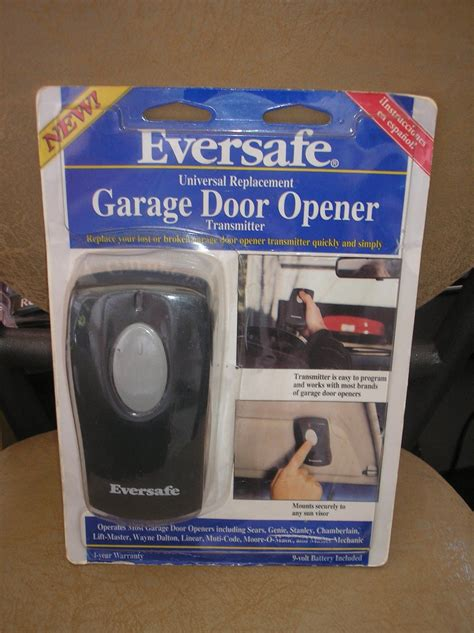Brands Of Garage Door Openers by Eversafe Universal Replacement Garage Door Opener Single