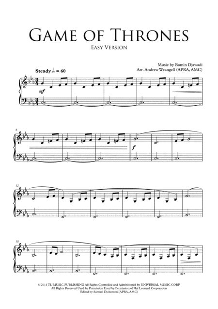 theme music game of thrones download download game of thrones theme easy piano sheet music by