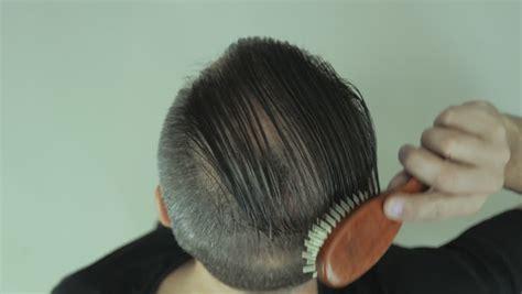 men long hair cover bald spot covering hair stock footage video shutterstock