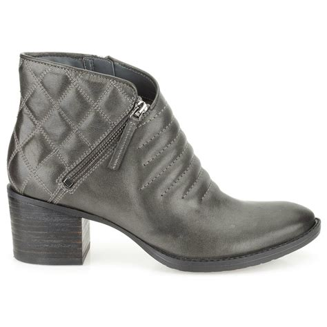 clarks womens retro grey leather casual boots