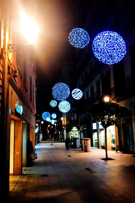our first christmas in barcelona christmas lights