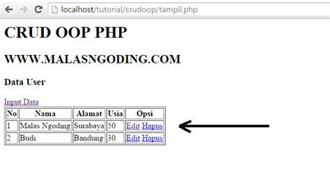 membuat crud dengan php dan mysql pdf membuat crud dengan oop php dan mysql part 4 malas ngoding