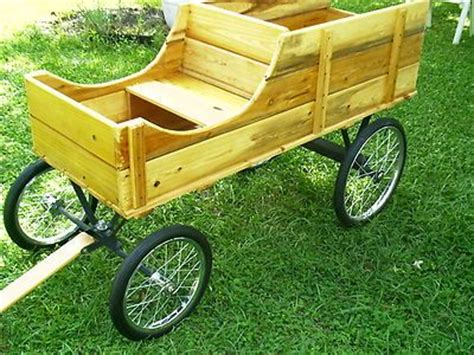 NEW Amish Handcrafted Custom Made Oak 2 Seater Wagon Pony