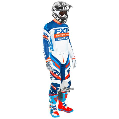 fxr motocross gear 2018 fxr racing revo mx pant white navy red sixstar racing