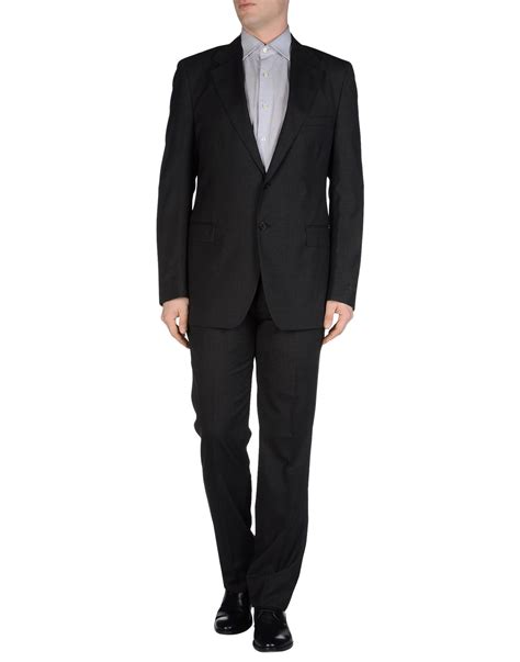 Overall Prada prada suit in gray for steel grey lyst