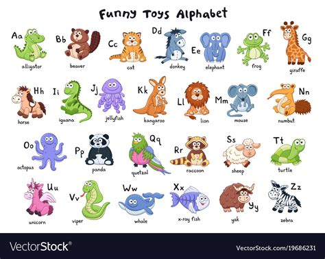 animals alphabet royalty free vector image