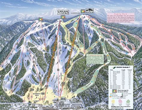 ski california map trail maps stats and directions for every california ski