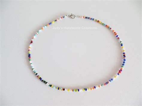 Bead Choker multicolor seed bead choker beaded choker necklace seed bead