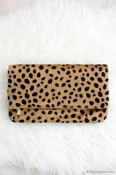Up Of Designer Animal Print Clutch by Cheetah Print Leopard Animal Print Faux Fur Clutch Leopard