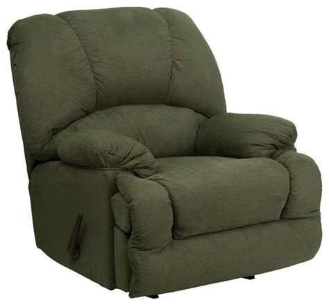 houzz recliners contemporary recliner chair in olive green recliner