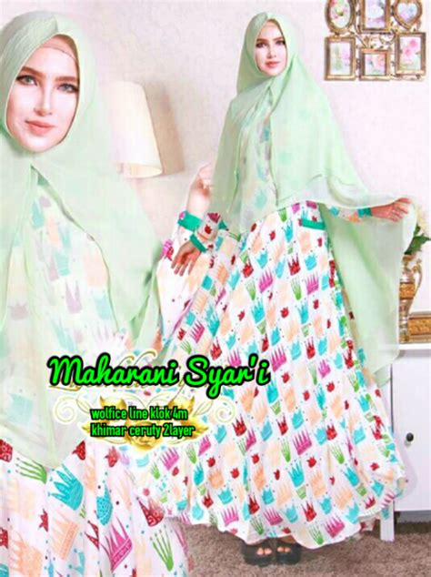 Syari Green aprianti collection gamis premium maharani syari green