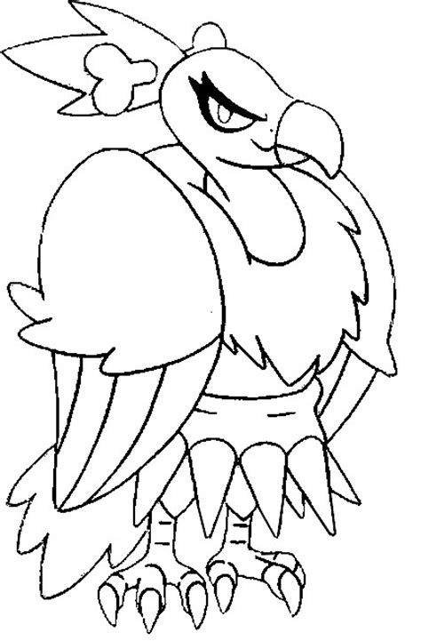 pokemon coloring pages braviary coloring pages pokemon mandibuzz drawings pokemon