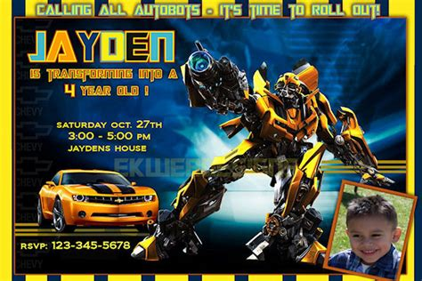 transformers birthday invitations ideas bagvania free