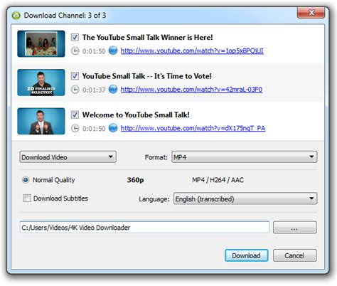download mp3 from youtube channel how to download youtube channel 4k download